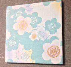 Flower Cotton Fabric panel Fabric board Fiberart by smilemiyako