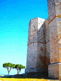FotoSketcher - Castel del Monte il castello di Federico II° di Svevia