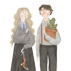 #PotterWeekPrompts Day 6: Perfect Pair (Neville/Luna are the best!)