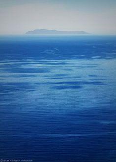 Antikythera island as seen from Rodopos peninsula, Chania Crete island - Greece