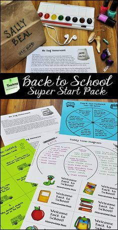 Back to School Super Start from Laura Candler! Check out this pack of ready-to-use printables and activities for the first week of school! Create a caring classroom environment and put your class on the track to success! $