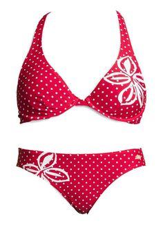 VENICE BEACH Bügel bikini - Mit angesagtem Tupfen- und Blumenprint. Top im Nacken zu binden, im Rücken zu schließen. Bikini vorn gefüttert. Aus 80% Polyamid, 20% Elasthan (LYCRA®). Futter: 100% Polyester.