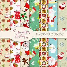 Scrapbooking santa paper