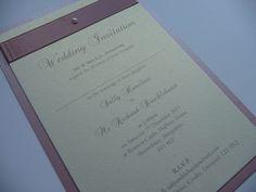 Dusky pink and Ivory Wedding invitations