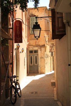 Alley in Rethymno, Crete island, Greece http://georgiapapadon.com/