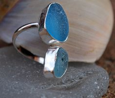 Blue Shades of Seaglass in an Adjustable by kathyarterburn on Etsy, $106.00