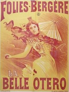 Born Agustina Otero Iglesias in Valga, Pontevedra, Galicia (Spain), her family was impoverished, & as a child she moved to Santiago de Compostela working as a maid.In 1888 she created the character of La Belle Otero, fancying herself an Andalusian gypsy. She wound up as the star of Les Folies Bèrgere in Paris.In a short number of years, Otero grew to be the most sought after woman in Europe. She was serving as a courtesan to wealthy & powerful men of the day,& chose her lovers carefully. She…