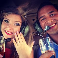 She said yes!  Check out Jorge & Olga's helicopter proposal story on the Greenwich Jewelers blog!