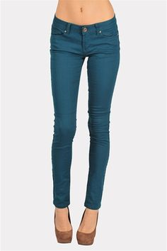 Skinnies - Teal. If I had these,I doubt I'd ever take them off!