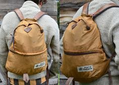 This is a RARE Vintage Alpine Design Tear Drop Two Compartment Daypack Backpack. This pack has some light wear, but is in good vintage Bushcraft Backpack, Vintage Backpacks, Thick Leather, Herschel Heritage Backpack, Outdoor Gear, Shoulder Strap, Stylish, How To Wear, Bags