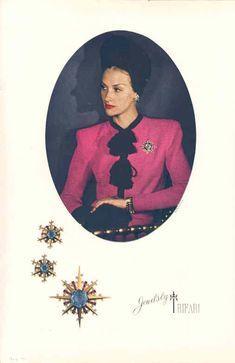 1930s Costume Jewellery advertisement. Trifari Jewelry.