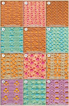 Page №44. Patterns and schemes to crochet.