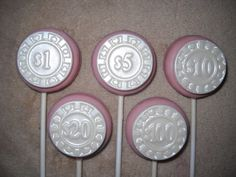 1 chocolate oreo edible shimmer poker casino chip lollipops lollipop   sapphirechocolates - Edibles on ArtFire