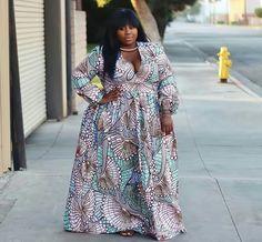 Plus size African print fashion. at Diyanu African Print Dresses, African Wear, African Attire, African Fashion Dresses, African Dress, African Clothes, Ankara Fashion, African Prints, Women's Fashion