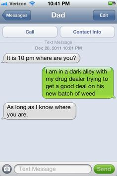 This concerned father… | 29 Parents Who Are Clearly Way Better At Texting Than Their Kids