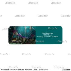 Mermaid Treasure Return Address Labels