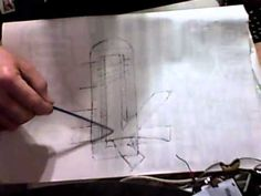 Rocket Stove Space Heater Drawing and Explanation