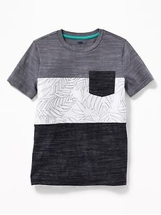 He'll look cool all season long in boys' T-shirts from Old Navy. Tees for boys are a sure thing that's easy to wear. Polo T Shirts, Sports Shirts, Gap Outfits, T Shirt Painting, Boys Summer Outfits, Turtleneck Shirt, Tee Shirt Designs, Men's Wardrobe, Look Cool