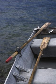 You can hang oars on a wall in two basic ways: visible and invisible. Visible brackets hold an oar like a curtain rod. Cut-down oarlocks make terrific brackets for decorative...