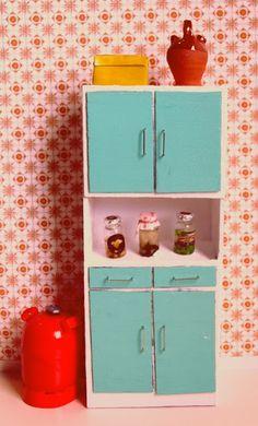 nines, dolls, poupée, muñecas: Tutorial - Moble de cuina de la postguerra a Espanya