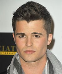 Spencer Boldman Short Straight Casual Hairstyle   Dark Brunette (Ash)
