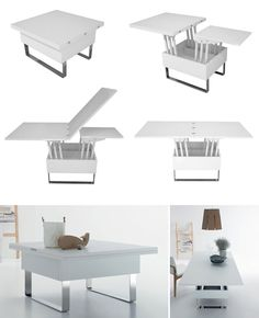 Top 10 Convertible Coffee Tables with Shipping to USA Coffee to Dining table solutions available for the US market Painted Bedroom Furniture, Living Room Furniture, Furniture Design, Ikea Furniture, Plywood Furniture, Unique Furniture, Furniture Makeover, Dining Rooms, Furniture Ideas