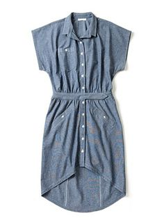 Suzanne Rae Chambray Shirt Dress
