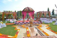 beautiful mandap decor at destination wedding Ranakpur.