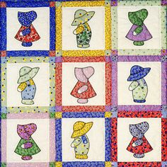 Sunbonnet Sue and Overall Sam. I like this Sam. Thinking I want to make one from my Daddy's shirts!
