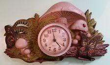 Vintage Used Beautiful Homco Woodsy Mushrooms Wall Clock Burwood 1975