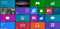 Microsoft/Windows 8. LOVE this new layout. Just like the phone.