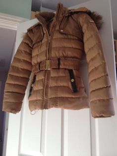 #Girls #winter ski jacket #beige/gold ,  View more on the LINK: 	http://www.zeppy.io/product/gb/2/201649414727/