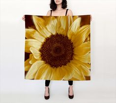 Silk Sunflower Scarf Sunflower Scarves by SouthernComfortArt