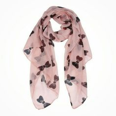 Bow scarf Pink Bow knot scarf chiffon scarf. 160 cm?70 cm. My price is firm Accessories Scarves & Wraps