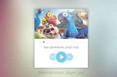 Free Minimal Music Player UI Design PSD #freebies