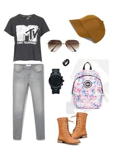Casual by veronikavavrova on Polyvore featuring polyvore fashion style Topshop MANGO Nature Breeze Hype Michael Kors Ray-Ban clothing