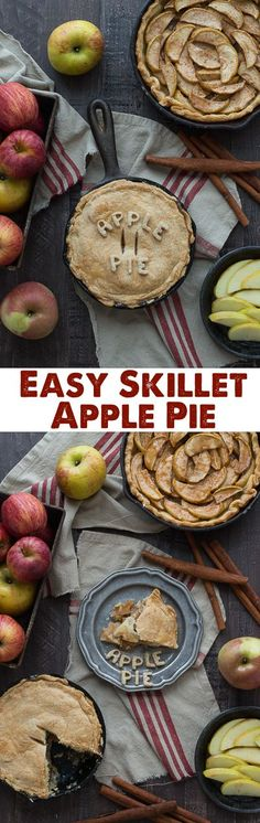 Make apple pie in a cast iron skillet! Full of apples and cinnamon, use either homemade dough or store bought!
