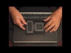 PCA Embossing Folder WINDOWS & FRAMES - Rectangles Demo - NEW LINE!! http://www.perfectparchmentcraft.com/shop/parchcraft-australia-pca/