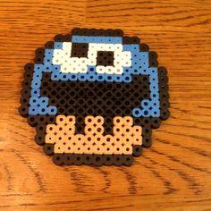 Perler Bead Cookie Monster Mario Mushroom by Alyssa's Adorable Crafts