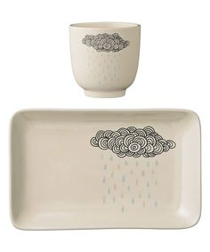 Love this Rain Cloud Plate & Cup by Bloomingville on #zulily! #zulilyfinds