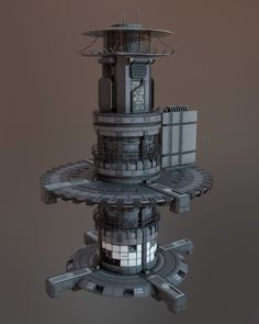 ArtStation - Hydro Tower, Fran G Castiglioni