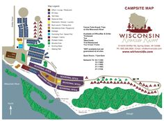 Wisconsin Riverside Campground Map