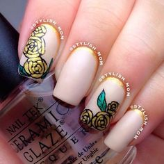 31 Beauty and the Beast Nails > CherryCherryBeauty.com