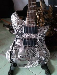 Items similar to Custom Carved Guitar Lady Q Series on Etsy -