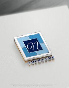 Free Logo Maker – Initials Cube Logo Template – Geometric logos
