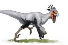 """perpetual-loser: """" Here's a messy feathered raptor, i want to do more but my tablet pen is about to die i think. Dinosaur Drawing, Dinosaur Art, Dinosaur Sketch, Prehistoric World, Prehistoric Creatures, Creature Concept Art, Creature Design, Raptor Dinosaur, Dragons"""