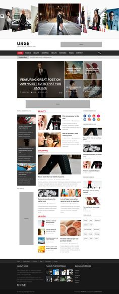 Urge - Responsive Magazine News WordPress Theme #wordpress Live Preview and Download: http://themeforest.net/item/urge-responsive-magazine-news-wordpress-theme/7233494?ref=ksioks