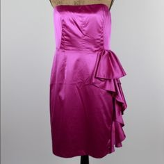 """Pink Special Event Strapless Dress - NWT sz 10 Pink Special Event Strapless Dress - NWT sz 10  Bust: 18"""" / Length: 30""""  #woodsnap #nwt #newwithtags #pink #weddingguest #ruffles #girly #strapless The Limited Dresses"""