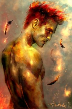 Battle in the sky by elGuaricho on DeviantArt Fantasy Male, Fantasy World, Character Portraits, Character Art, Fire Art, Gay Art, Pusheen, Fantasy Creatures, Fantasy Characters