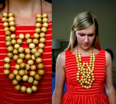 #necklace // Pearls Poppies Pinkies Up: Making Wooden Bib Necklaces, Part I